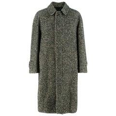 Drakes' Men's Tweed Wool CoatSize 40