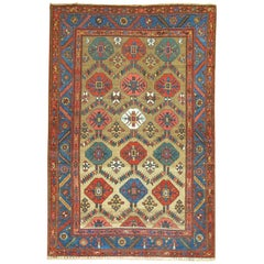 Dramatic Antique Persian Tribal Persian Serab 20th Century Rug
