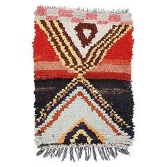 Dramatic Moroccan Berber Boucherouite Rug