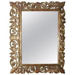 "Dramatic ""Oak Tree"" Baroque Style Gilt Wood Mirror"