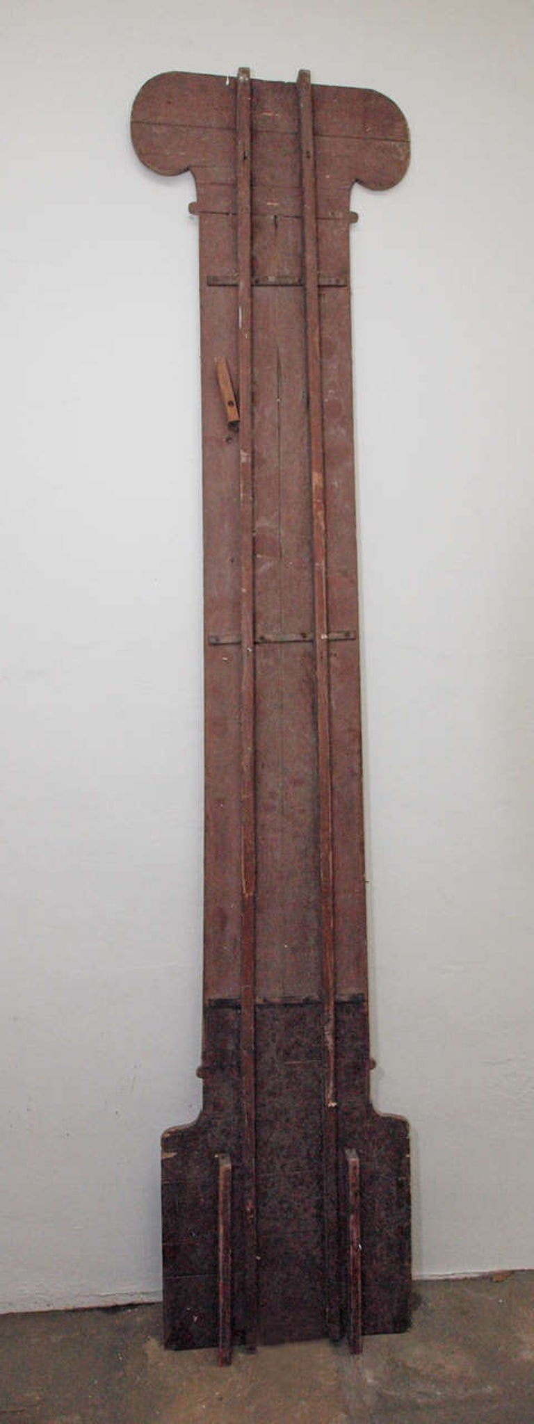 Dramatic Pair of Trompe L'Oeil Columns, 20th Century, France For Sale 2