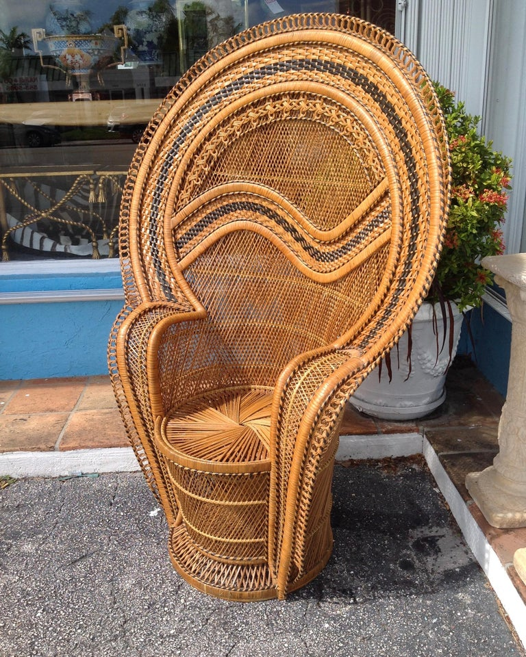Dramatic Peacock Chair For Sale 3