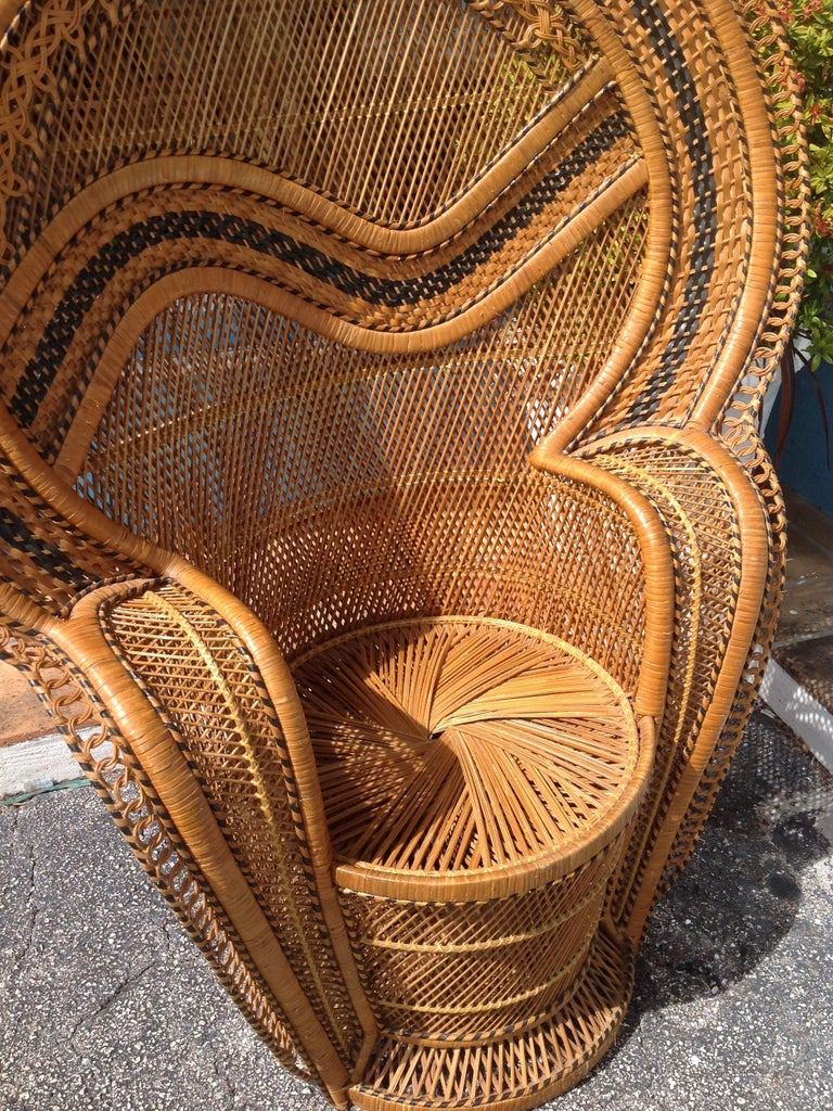 Dramatic Peacock Chair For Sale 5