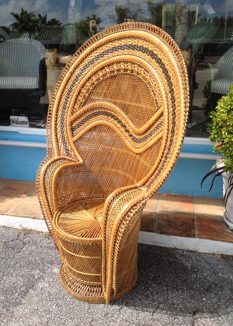 Dramatic Peacock Chair For Sale 9