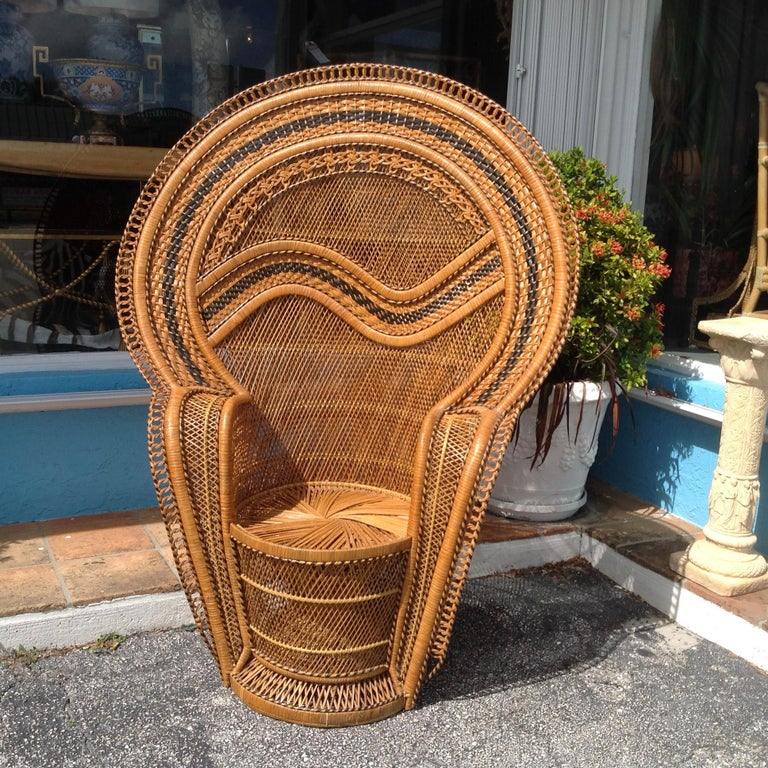 Dramatic Peacock Chair For Sale 10