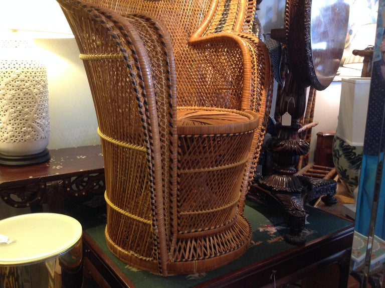 Dramatic Peacock Chair For Sale 11