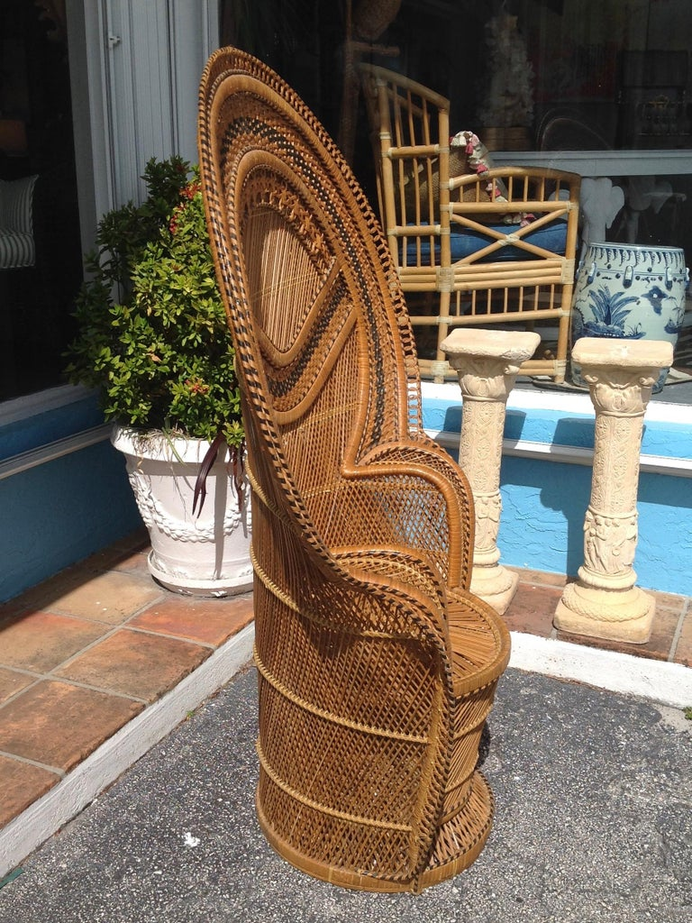 Dramatic Peacock Chair In Good Condition For Sale In West Palm Beach, FL