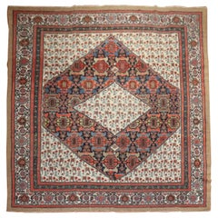 Dramatic Persian Hamedan Serab Decorative Square Room Rug