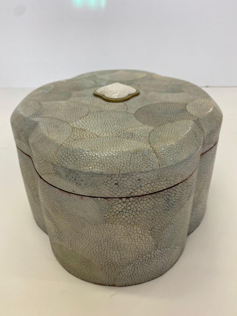 Philippine Dramatic Shagreen Lidded Treasure Box For Sale