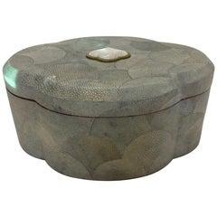 Dramatic Shagreen Lidded Treasure Box