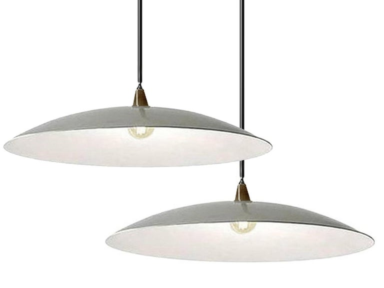 Mid-Century Modern Dramatic Shallow Dish Architects Lamp For Sale