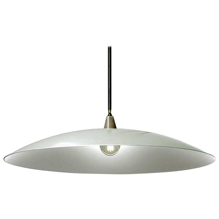 Dramatic Shallow Dish Architects Lamp For Sale