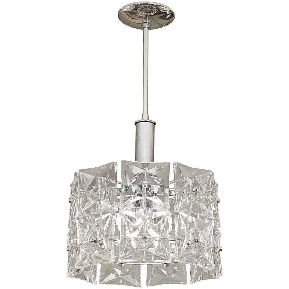 Dramatic Two-Tier Kinkeldey Chandelier with Square Crystals