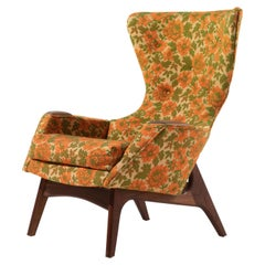 Dramatic Vintage Adrian Pearsall Wingback Club Lounge Chair