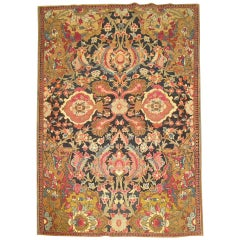 Dramatic Whimsical Antique Indian Agra, Early 20th Century Rug