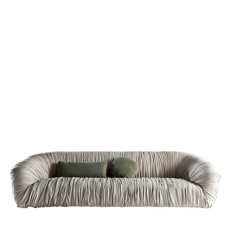 Italian Drapé Sofa For Sale