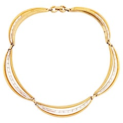 Draped Choker Necklace w Baguette Crystals By Alfred Philippe For Crown Trifari