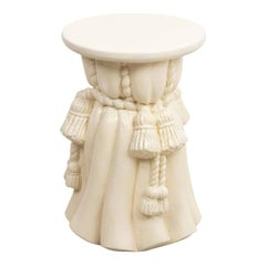 Draped Plaster Stool