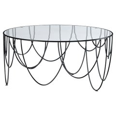 Drapery 80 Round Indoor Side Table