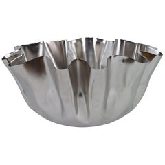 Drapery Small Bowl in Nickel by CuratedKravet