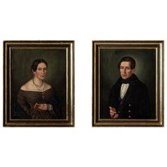 Drasdo Family Oil Paintings, Germany, circa 1840