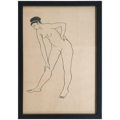 Drawing #4 of a Nude by Jerry O'Day Alias Geraldine Heib