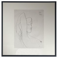 Drawing #5 of a Young Girl Bust by Albert Radoczy #5
