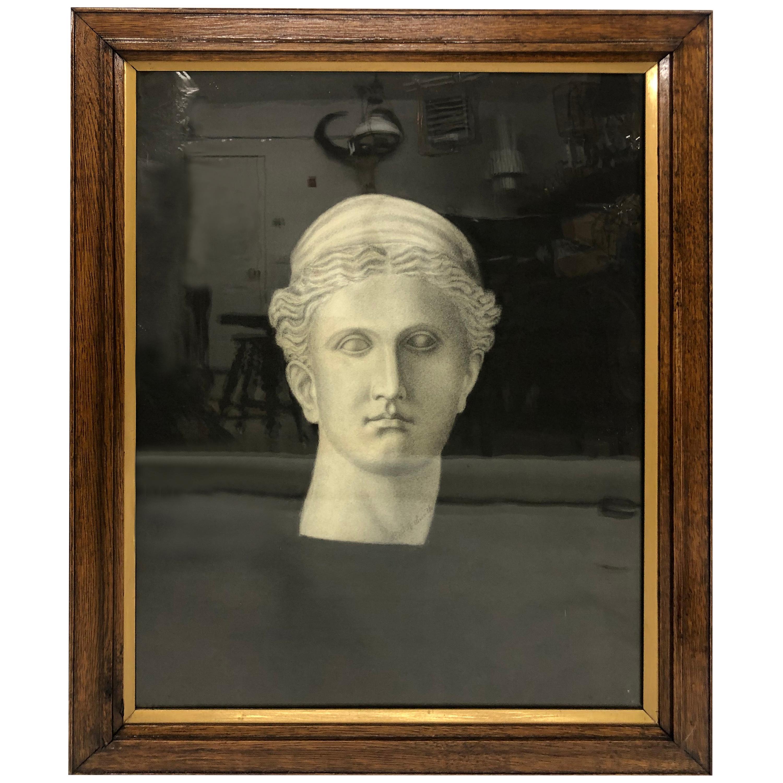Drawing of a Roman Head