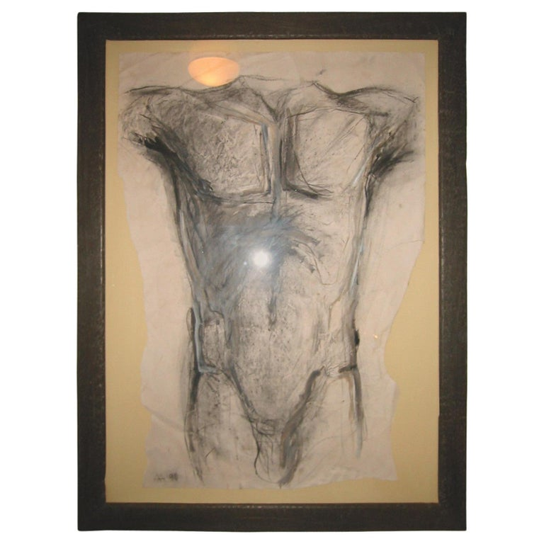 Drawing of a Torso by Alexandra Athanassiades For Sale