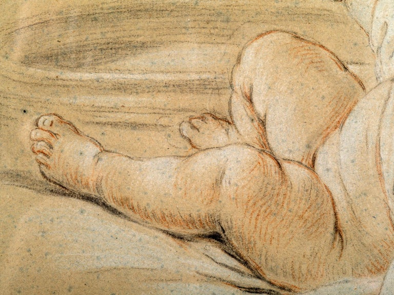 Drawing of Children Playing, Circle of Francois Boucher In Good Condition For Sale In Boston, MA