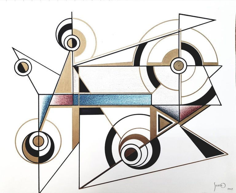 Hand-Painted Drawings / Mexican Designer / Artist / Silvino Lopeztovar For Sale