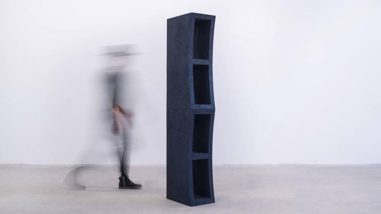 American Dream Bookcase, Sand and Crushed Glass by Fernando Mastrangelo For Sale