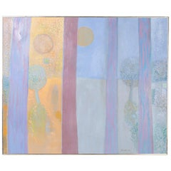 Dreamy Modernist Painting on Canvas