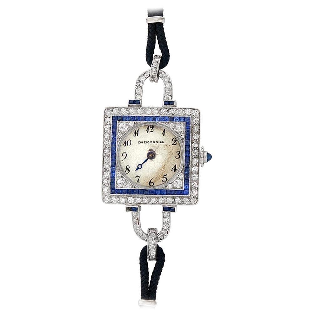 Dreicer & Co. C.H. Meylan Art Deco Platinum Diamond Watch