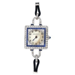 Dreicer & Co. C.H. Meylan Art Deco Platinum Diamond Watch