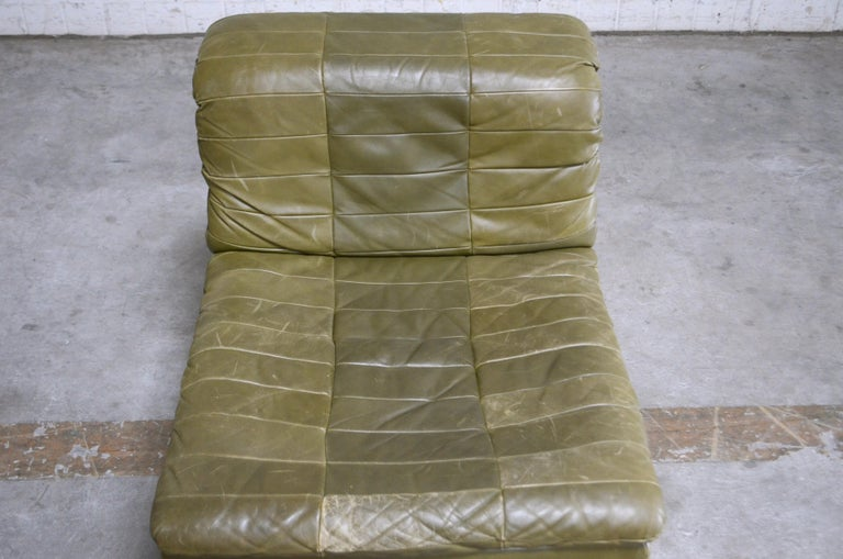 Marvelous Dreipunkt International Leather Patchwork Sofa Module Olive Short Links Chair Design For Home Short Linksinfo
