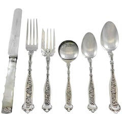 Dresden by Whiting Sterling Silver Flatware Set for 2 Service 83 pieces