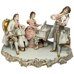 Dresden Porcelain of a Trio of Musicians