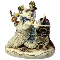 Dresden Porcelain of Romantic Couple of Musicians