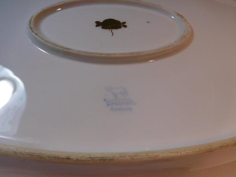 Dresden Porcelain Platter with Gold Incrustation by Ambrosius Lamm, circa 1900 For Sale 11