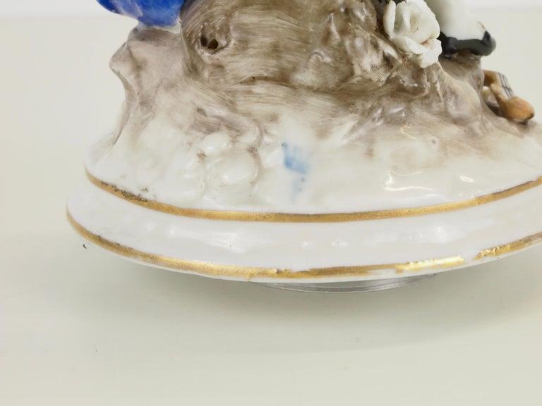 Dresden Porcelain Romantic Couple Statuette by Ackermann & Fritze For Sale 8