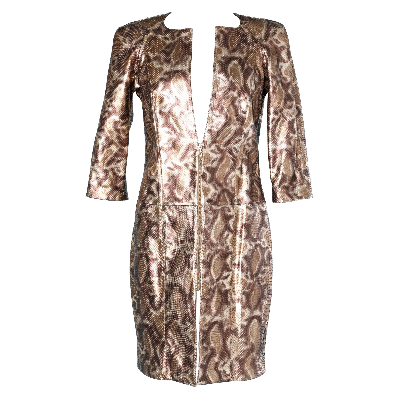 Dress Coat in animal print python Shiro