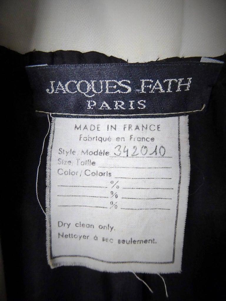 Black Dress Jacques Fath For Sale