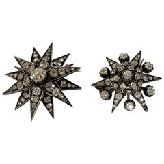 Dress like a Royal, a Pair of Antique Diamond Star Brooches, circa 1880
