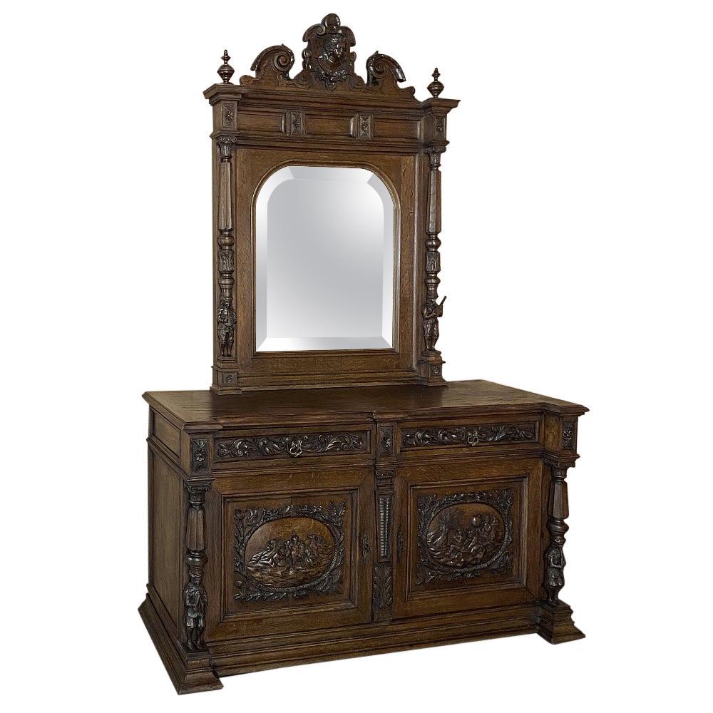 Dresser, 19th Century French Napoleon III Period in Oak