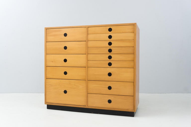 Modern Dresser, Ash Wood, by Paolo Tilche, 1959