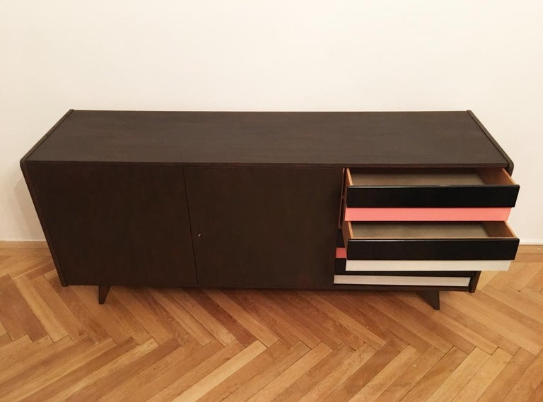 Dresser Jiri Jiroutek for Interier Praha, U 460 Pink & Gray In Good Condition For Sale In Prague, CZ