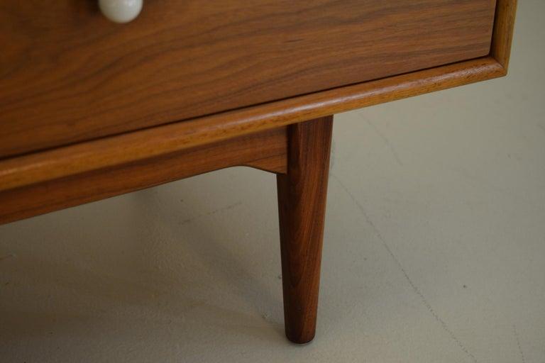 Dresser Suite and Mirror by Kipp Stewart for Drexel in Walnut For Sale 4