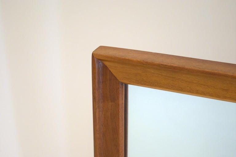 Dresser Suite and Mirror by Kipp Stewart for Drexel in Walnut For Sale 6
