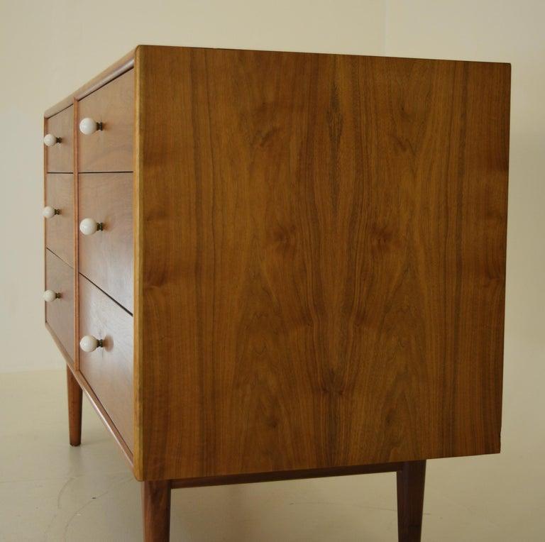 Dresser Suite and Mirror by Kipp Stewart for Drexel in Walnut For Sale 2